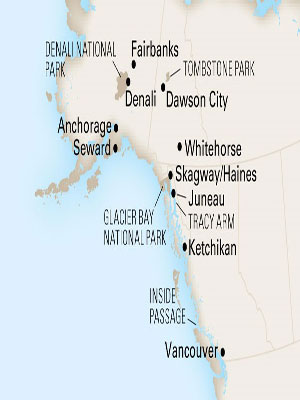 Cruises vacation package - Holland America 12-Day Yukon + Double Denali